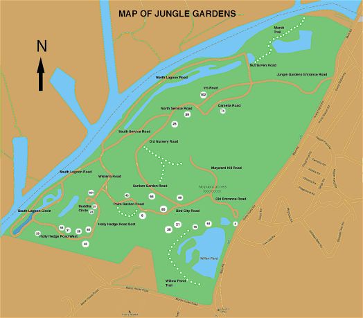 Jungle Gardens Road Map more